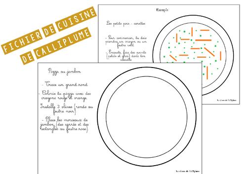 Des recettes de cuisine pour travailler le graphisme