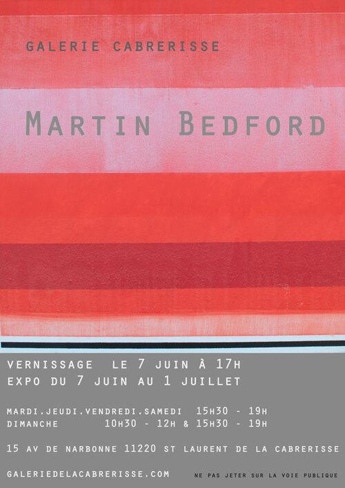 Vernissage le 7 juin Martin Bedford