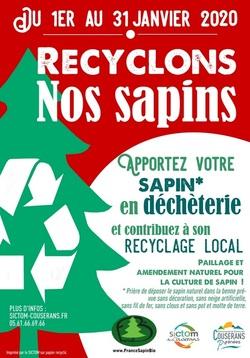 Du 1er au 31 janvier 2020 - Recyclage des sapins