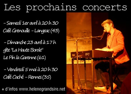 Prochains concerts...