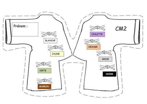 ceintures de conjugaison version 2019 pour le CM2
