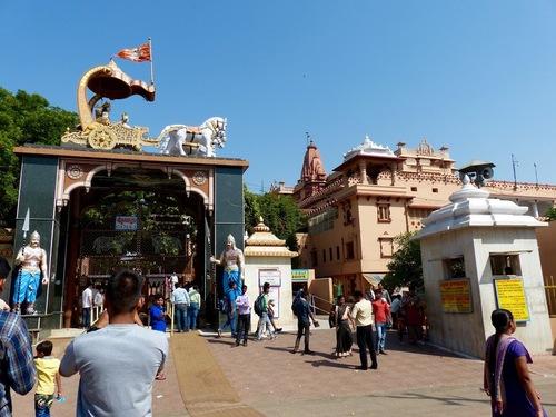 le temple de Mathura dédié à Krishna