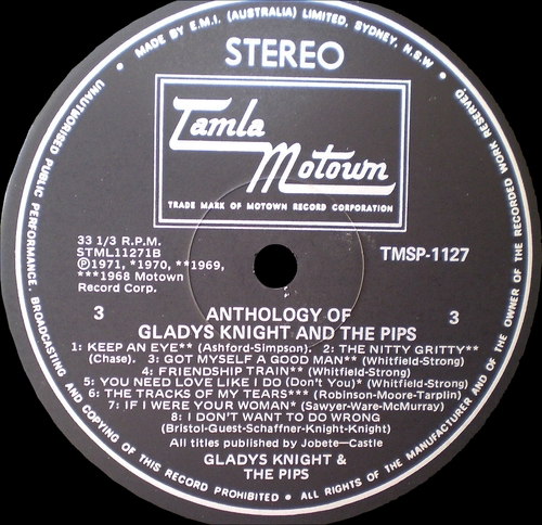 "Gladys Knight & The Pips : Album "" Anthology "" Motown Records M792S2 [ US ] en 1973"