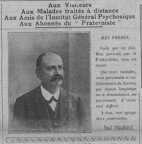 Institut - Paul Pillault (Le Fraterniste, 1 août 1912)