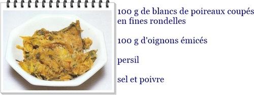 fondue de poireaux aux oignons