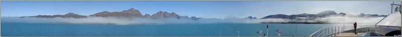 10 août 2019, dernier jour de la croisière. L'Austral entre dans le Kangerlussuatsiaq Fjord (Evighedsfjorden) - Groenland