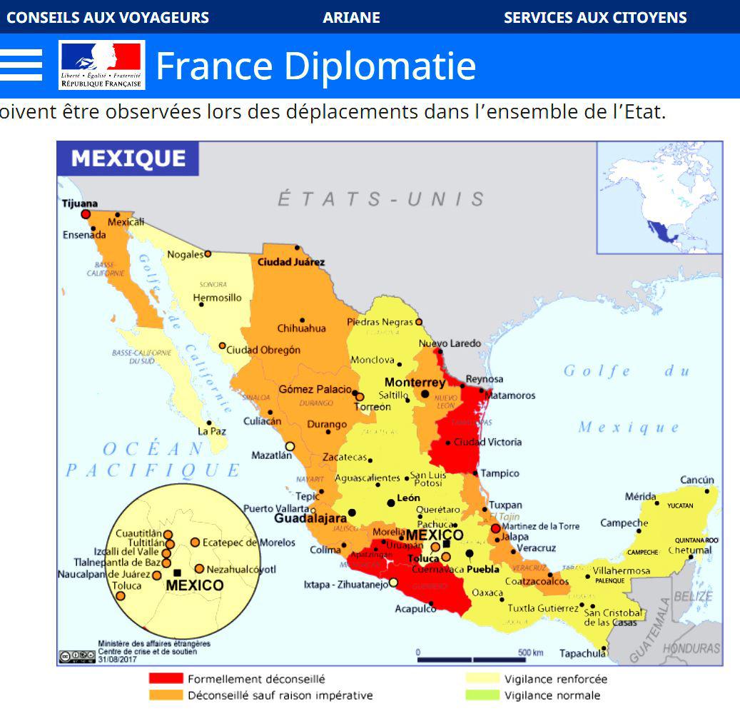 yucatan mexique danger