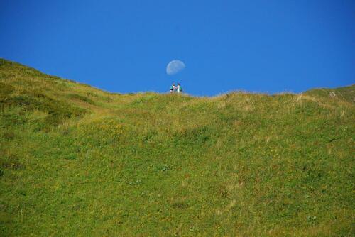 Le col Floray sous la lune