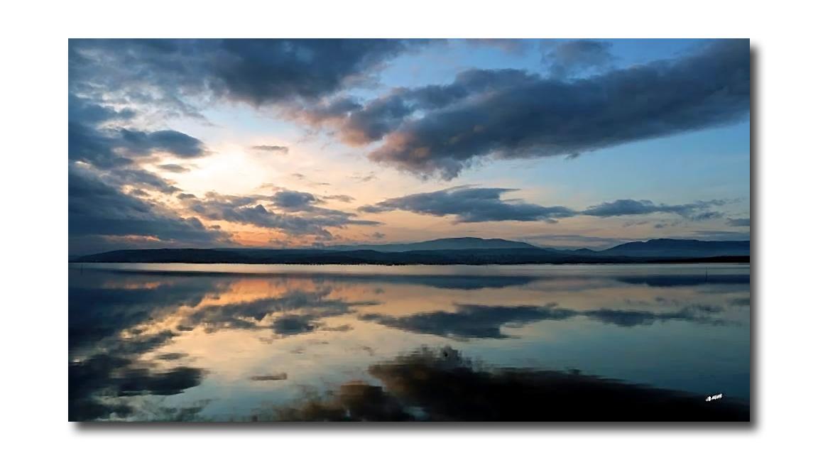Quand le ciel se confond avec l'étang (Etang de Leucate)