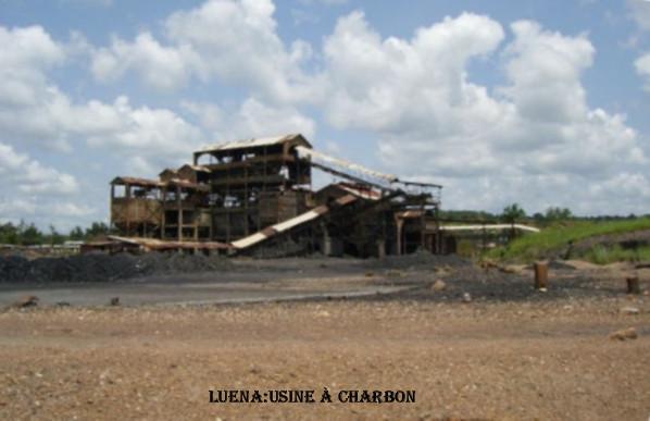 usine de charbon de Luena
