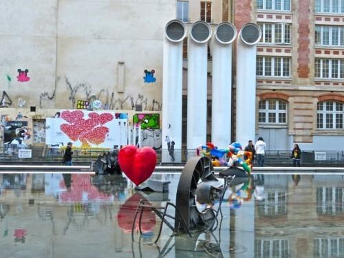 coeurs street-art Beaubourg 3