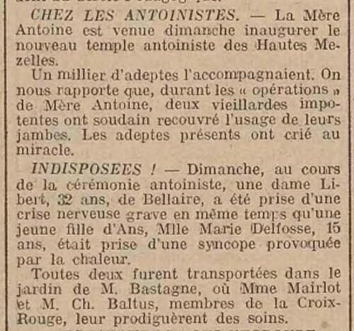 Temple de Verviers (Journal de Liège et de la province 15 juillet 1914)