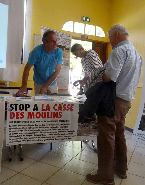 Une réunion d'information importante concernant l'effacement du bief du moulin de Belan sur Ource...