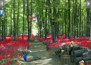 Jouer à Red flower forest escape