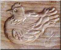Moule à biscuit poule - Arts et sculpture: sculpteur sur bois