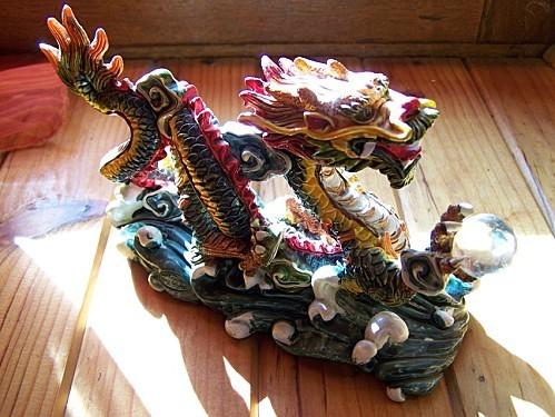 dragon chinois de profil