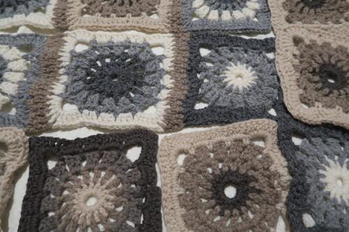 Plaid au tricot