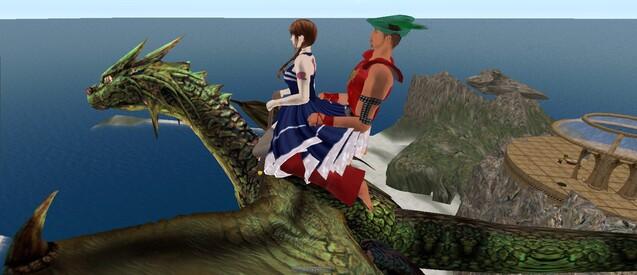 Balade en dragon avec Clementia