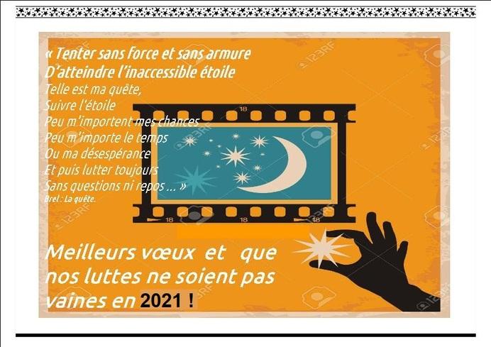 * Pour une meilleure année 2021 *