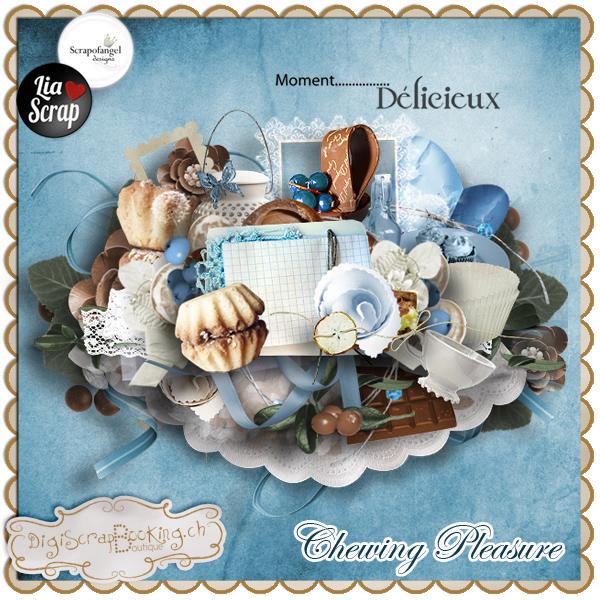 """Kit collab""""chewing pleasure"""" par Lia Scrap et Scrapofangel"""