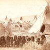 Arapaho camp. ca. 1890s. Photo by Baker & Johnston. Evanston, Wyoming.jpg