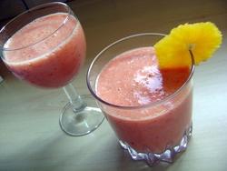 Smoothie  fraises/ananas