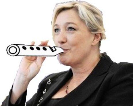 Pipeau Marine le Pen