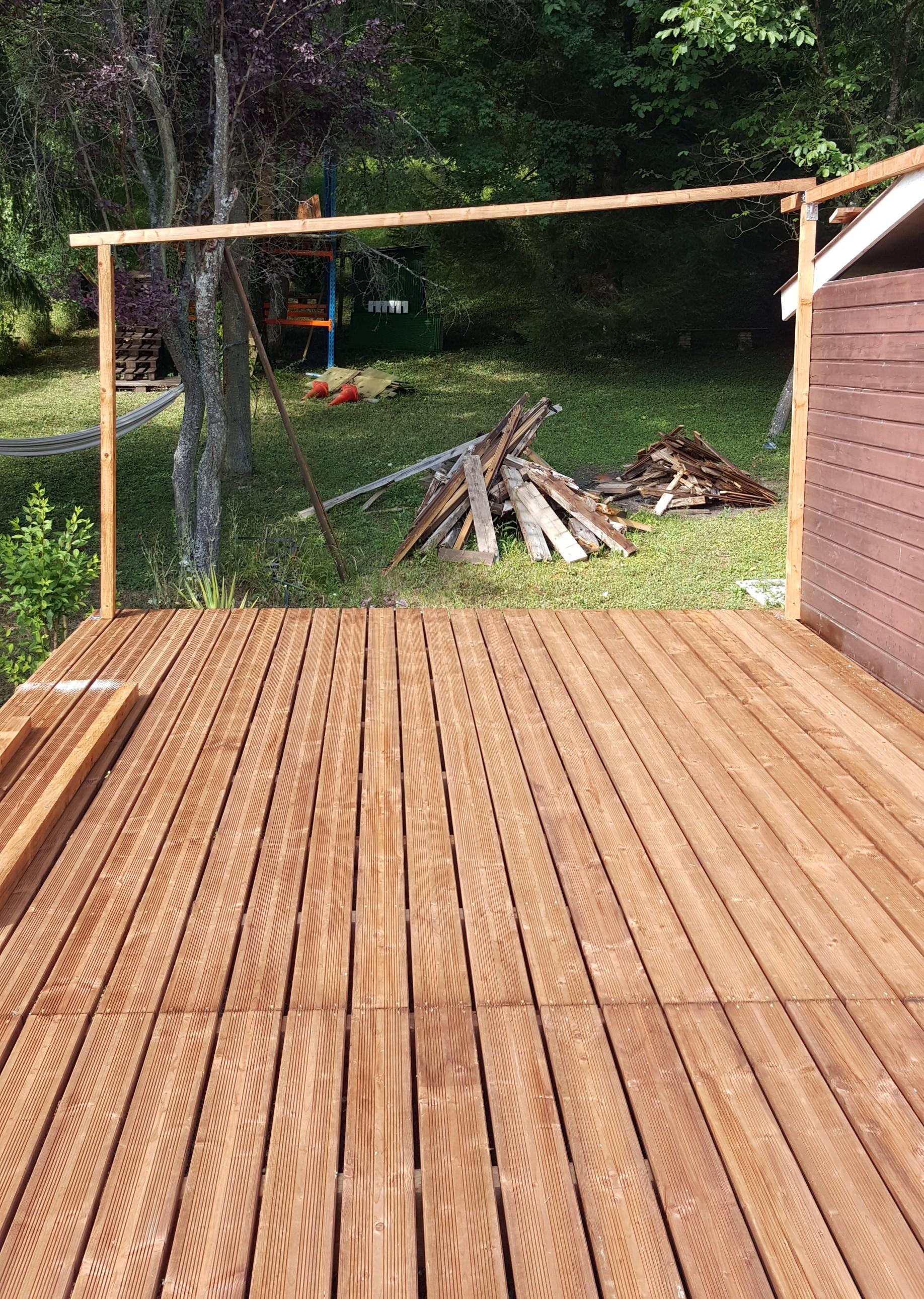 Démontage dune terrasse en bois et remontage dune nouvelle  Ours54