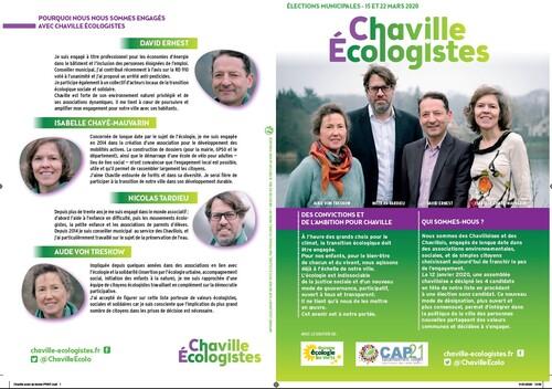 Le site de Chaville Ecologistes et le premier tract.
