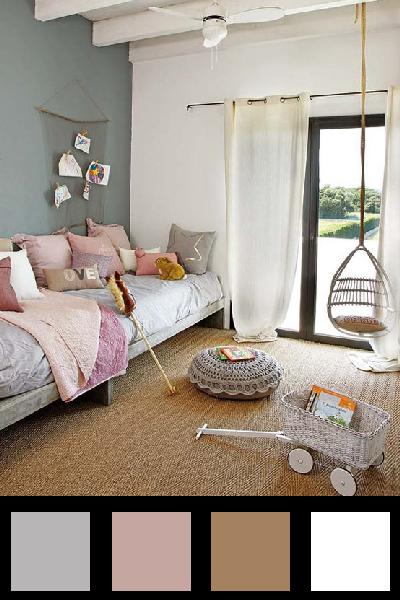 La couleur dans la chambre d 39 ado d co en nuances - Chambre grise et beige ...