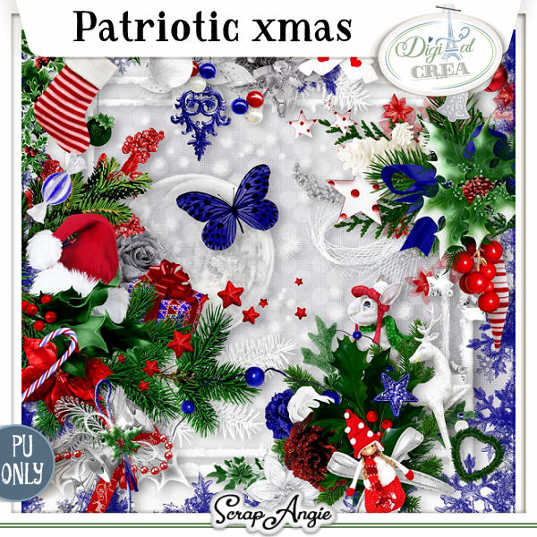 PATRIOTIC XMAS by SCRAP'ANGIE