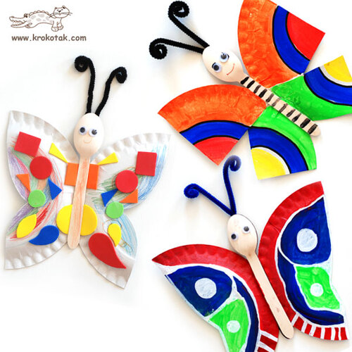 Les papillons multicolores