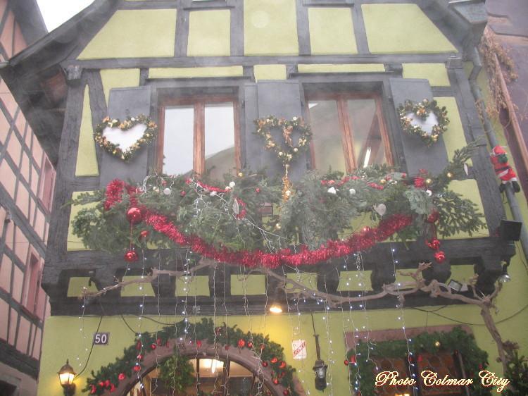 Au temps des Marchés de Noël :  Maisons à Riquewihr