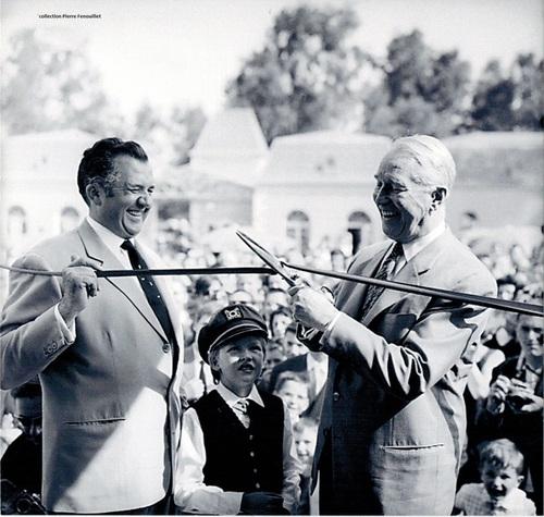 Inauguration de La Mer de Sable par Maurice Chevalier en 1963