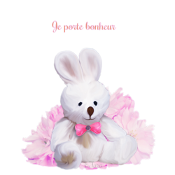 Porte bonheur petit lapin code inclu