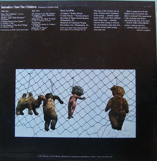 "1973 : The Intruders : Album "" Save The Children "" Gamble Records KZ 31991/Philadelphia International Records ZX 31991 [ US ]"