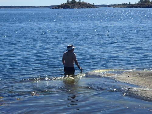 la suede en kayak de mer