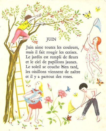 Le mois de juin