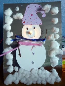 bonhomme neige  électrique