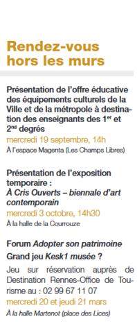 Rennes: musée et espace sciences