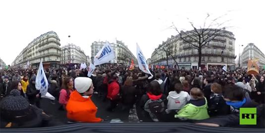 Images uniques : La manifestation contre la loi travail à 360 degrés