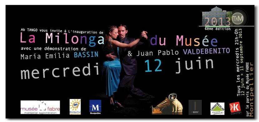 M.E BASSIN & J.Pablo VALDEBENITO pour la 1ère de La Milonga du Musée