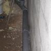 Pose évacuation en PVC diamètre 100 au sous sol (11)