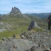 Passage au sommet de la Peña Blanca, devant le pic du Midi d'Ossau