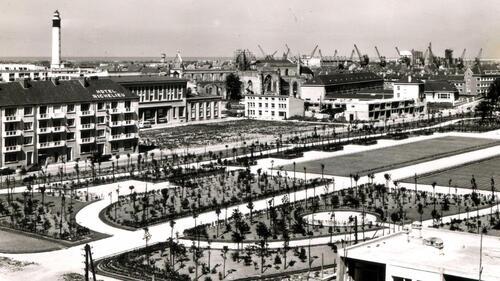 Calais : le jardin Richelieu redessiné en 1956