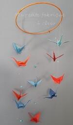 Petite envolée de grues en origami DIY