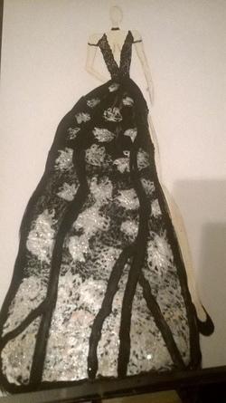 72° Dessin robe noire