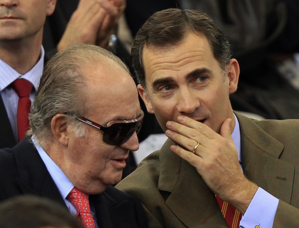 Felipe et Juan Carlos au tennis