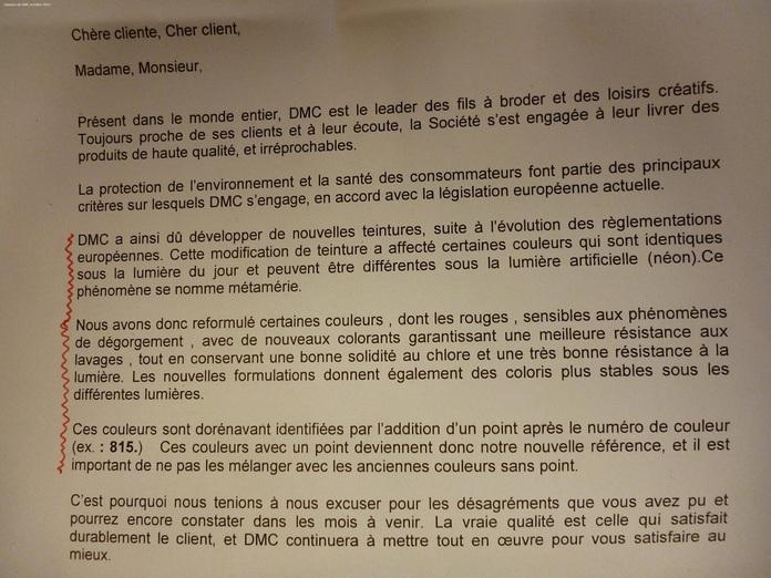 """Attention aux """"nouveaux"""" écheveaux D M C"""