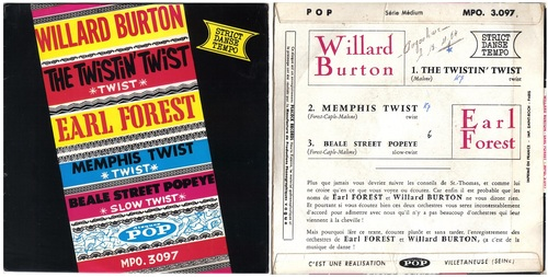 Willard Burton - Earl Forest - French EP disque POP